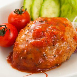 tomatonikomihanbagu